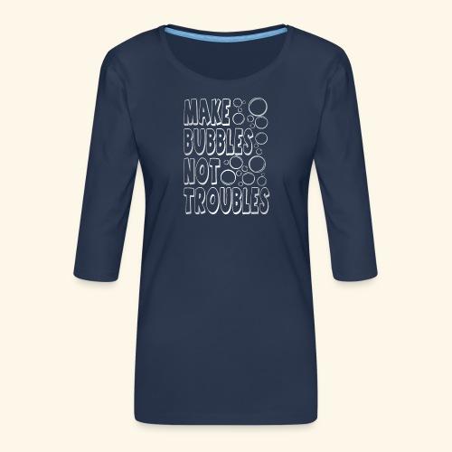Bubbles003 - Vrouwen premium shirt 3/4-mouw