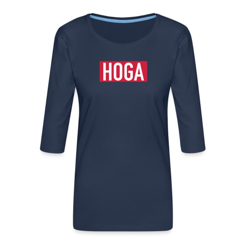 HOGAREDBOX - Premium T-skjorte med 3/4 erme for kvinner