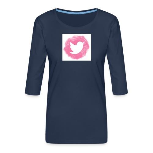 pink twitt - Women's Premium 3/4-Sleeve T-Shirt
