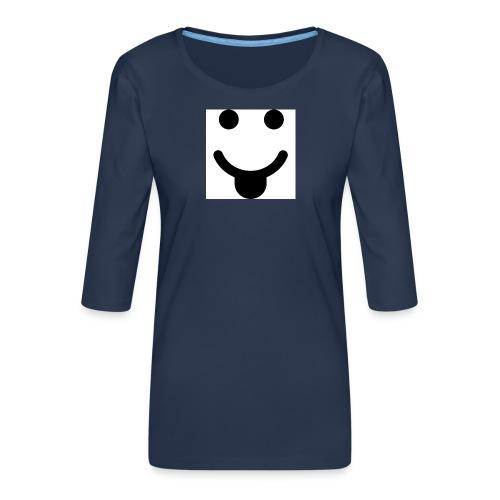 smlydesign jpg - Vrouwen premium shirt 3/4-mouw