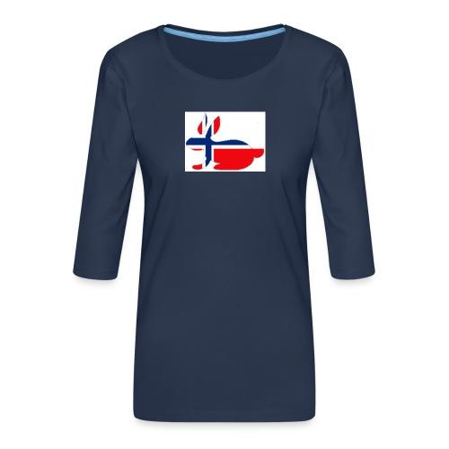 bunny_NY_LOGO_LI - Women's Premium 3/4-Sleeve T-Shirt