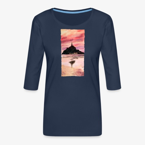 Mont St Michel - Women's Premium 3/4-Sleeve T-Shirt