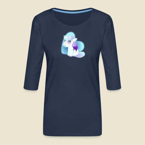Licorne n°2 - T-shirt Premium manches 3/4 Femme