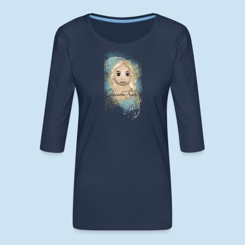 QueeenTran Edition - Premium T-skjorte med 3/4 erme for kvinner