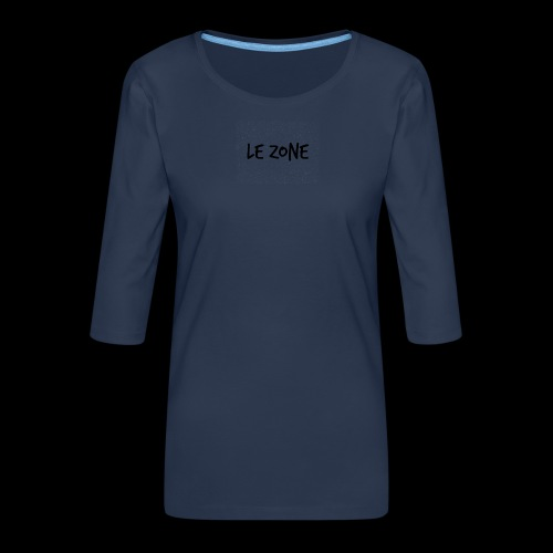Le Zone Officiel - Dame Premium shirt med 3/4-ærmer