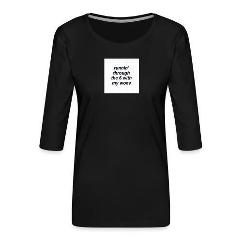 cap woes - Vrouwen premium shirt 3/4-mouw