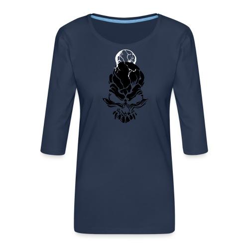 F noize fronte png - Women's Premium 3/4-Sleeve T-Shirt