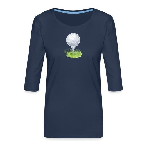 Golf Ball PNG Clipart - Camiseta premium de manga 3/4 para mujer