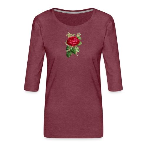 Fin ros - Premium-T-shirt med 3/4-ärm dam