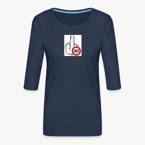 Doigt Coeur - T-shirt Premium manches 3/4 Femme