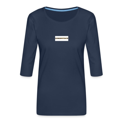 Concentrate on white - Women's Premium 3/4-Sleeve T-Shirt