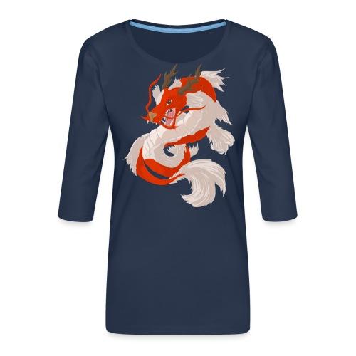 Dragon koi - Maglietta da donna premium con manica a 3/4
