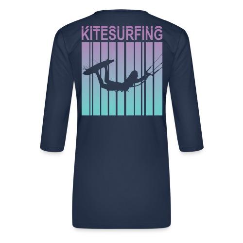 Kitesurfing - Women's Premium 3/4-Sleeve T-Shirt