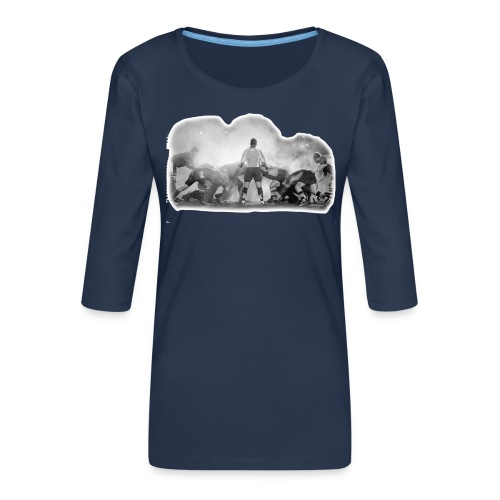 Rugby Scrum - Women's Premium 3/4-Sleeve T-Shirt