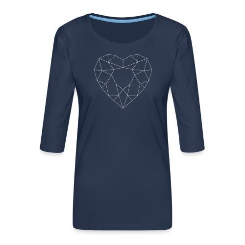 SchriftzugWhite - Frauen Premium 3/4-Arm Shirt