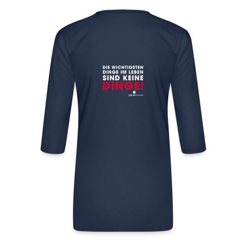 Dinge weiße Schrift - Frauen Premium 3/4-Arm Shirt