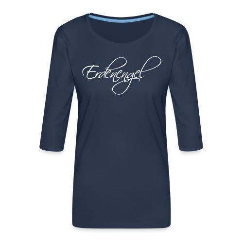 Erdenengel Weiß - Frauen Premium 3/4-Arm Shirt