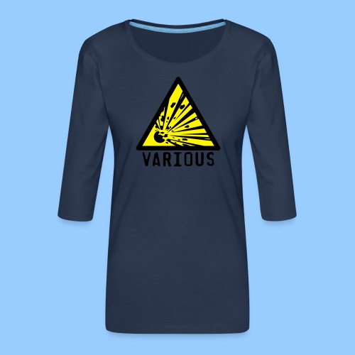 VariousExplosions Triangle (2 colour) - Women's Premium 3/4-Sleeve T-Shirt