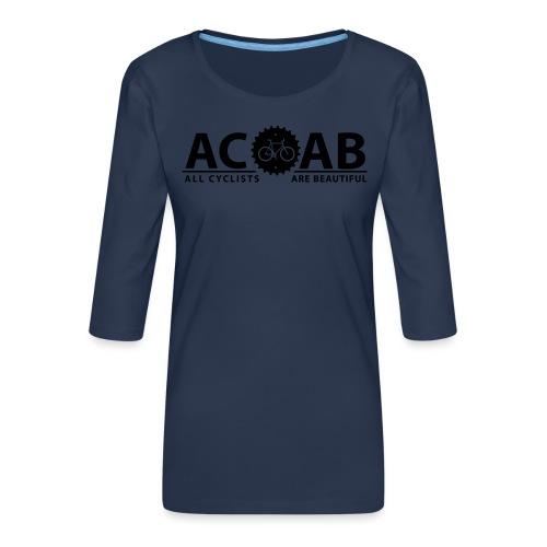 ACAB All Cyclists Are Beautiful T-Shirts - Frauen Premium 3/4-Arm Shirt