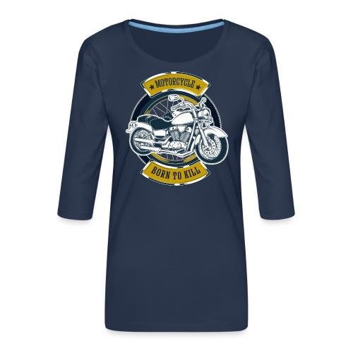 Motorcycle5 - Camiseta premium de manga 3/4 para mujer