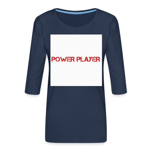 Linea power player - Maglietta da donna premium con manica a 3/4