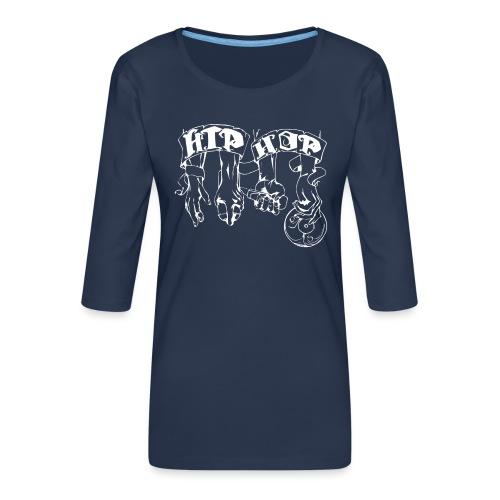 lblanco - Camiseta premium de manga 3/4 para mujer