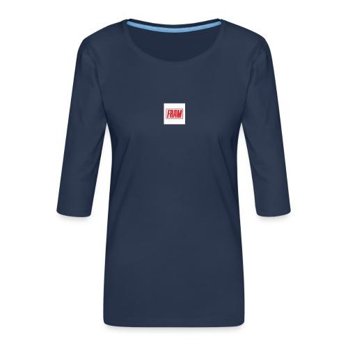 LogoSample ByTailorBrands - Vrouwen premium shirt 3/4-mouw