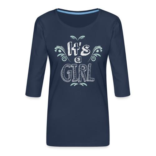 Tshirt Femme Enceinte T shirt femme - T-shirt Premium manches 3/4 Femme