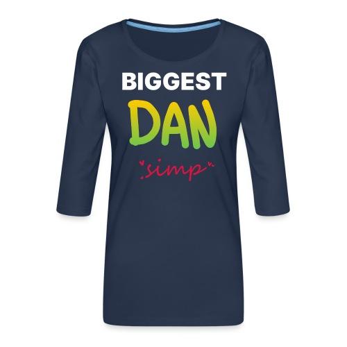We all simp for Dan - Dame Premium shirt med 3/4-ærmer