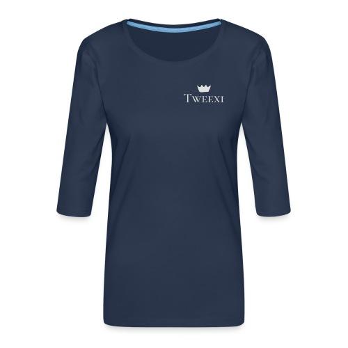 Tweexi logo - Premium-T-shirt med 3/4-ärm dam