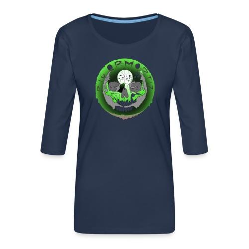 Rigormortiz Metallic Green Design - Women's Premium 3/4-Sleeve T-Shirt