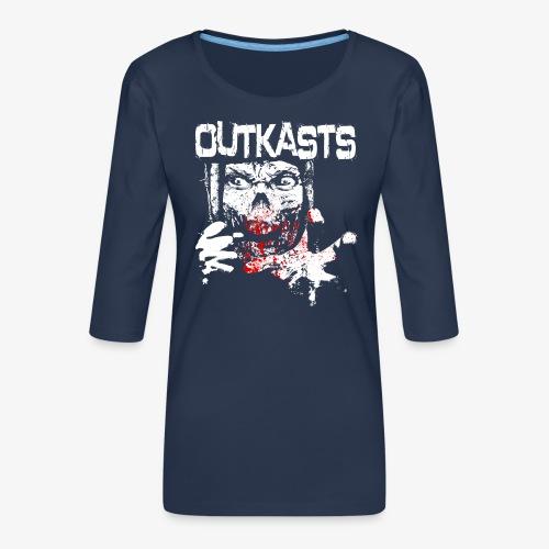 OutKasts Scum Front - Women's Premium 3/4-Sleeve T-Shirt