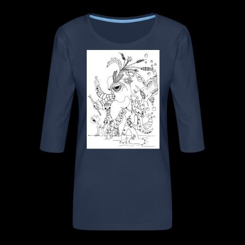 subconscientes colectivos I - Camiseta premium de manga 3/4 para mujer