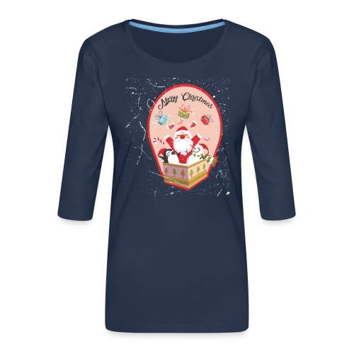 Merry Chrismas1 - T-shirt Premium manches 3/4 Femme