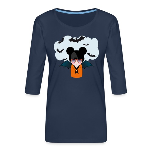 halloween kokeshi - T-shirt Premium manches 3/4 Femme