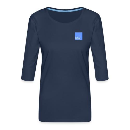 Blue Summer Logo - Women's Premium 3/4-Sleeve T-Shirt
