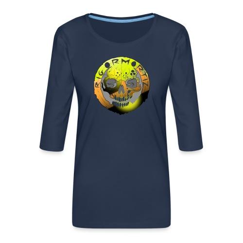 Rigormortiz Metallic Yellow Orange Design - Women's Premium 3/4-Sleeve T-Shirt