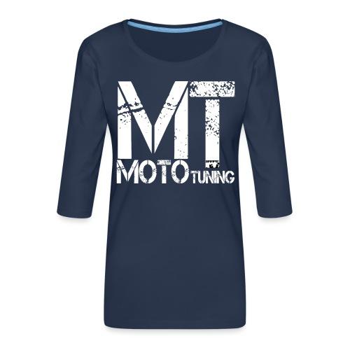 MotoTuning Logo - Women's Premium 3/4-Sleeve T-Shirt
