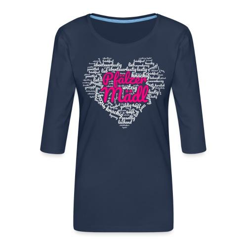 Herzl: Pfälzer Mädl - Frauen Premium 3/4-Arm Shirt