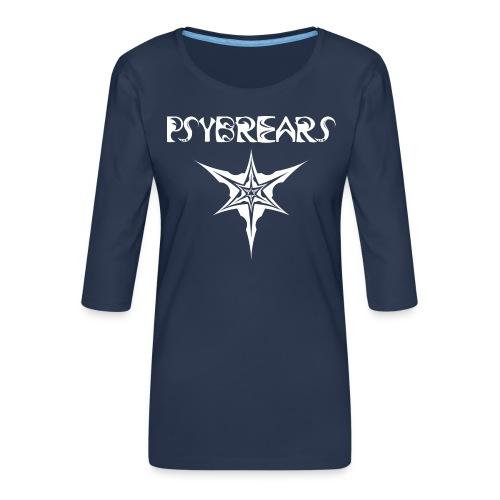 Psybreaks visuel 1 - text - black white - T-shirt Premium manches 3/4 Femme