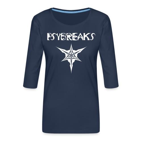 Psybreaks visuel 1 - text - white color - T-shirt Premium manches 3/4 Femme