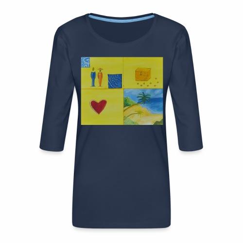 Viererwunsch - Frauen Premium 3/4-Arm Shirt