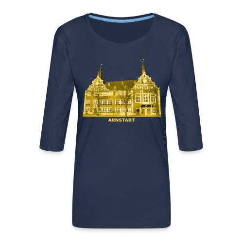Arnstadt Rathaus Bachstadt Thüringen Ilmkreis Gera - Frauen Premium 3/4-Arm Shirt