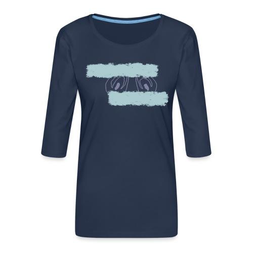nieobcy domyślny - Koszulka damska Premium z rękawem 3/4