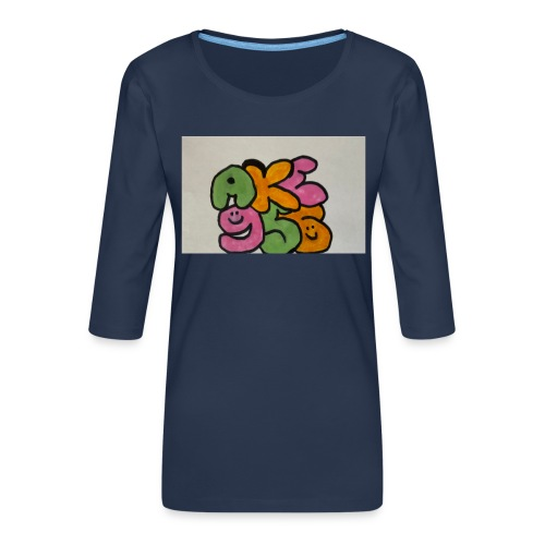 E89892AC 5A00 4C02 9486 886E5E9B97EC - Premium-T-shirt med 3/4-ärm dam
