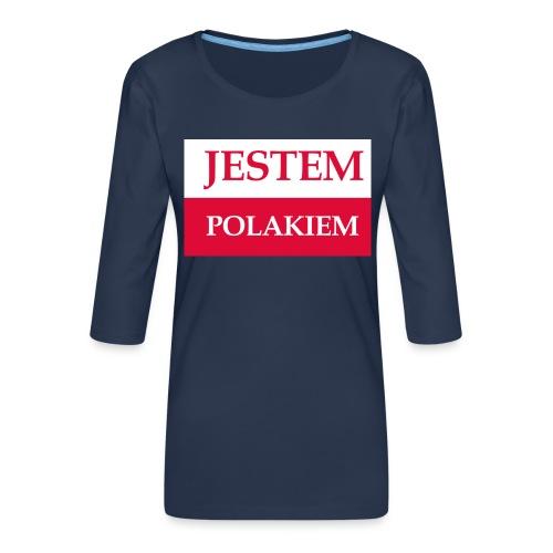 Jestem Polakiem - Koszulka damska Premium z rękawem 3/4