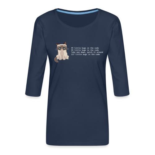 99bugs - white - Vrouwen premium shirt 3/4-mouw