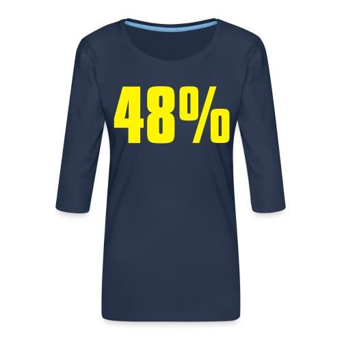 48% - Women's Premium 3/4-Sleeve T-Shirt