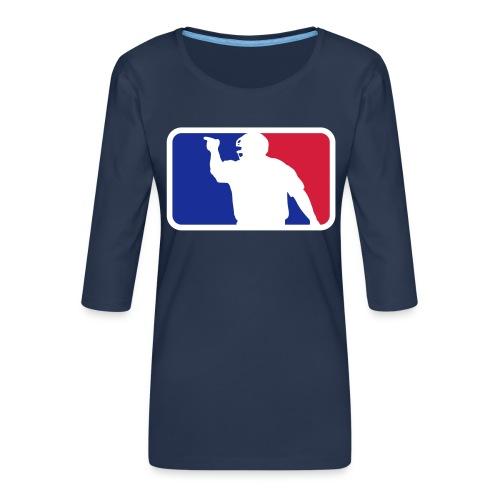 Baseball Umpire Logo - Women's Premium 3/4-Sleeve T-Shirt