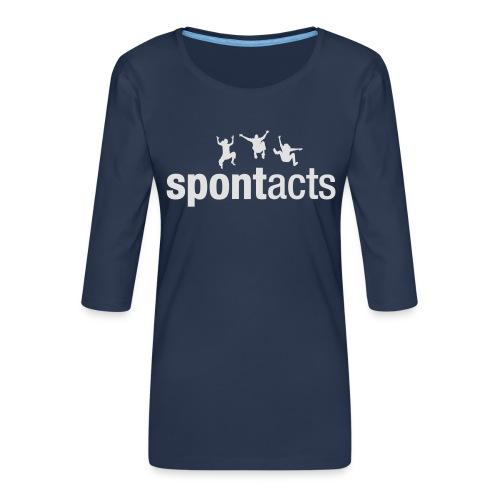 spontacts_Logo_weiss - Frauen Premium 3/4-Arm Shirt